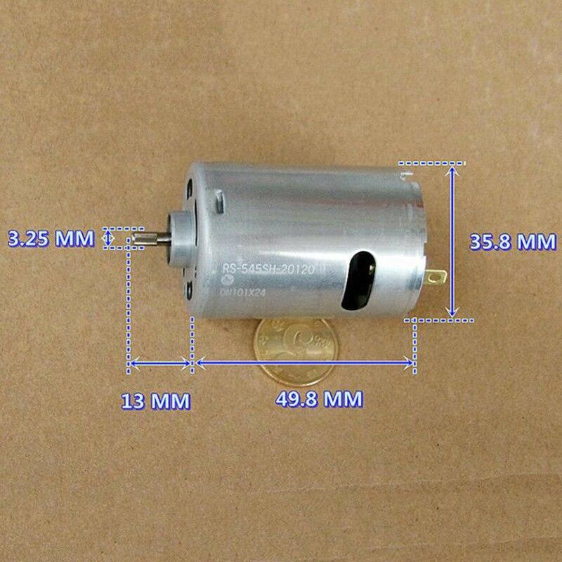 MABUCHI RS-550VC-8518 DC12V//18V//24V 22000RPM High Speed Electric Drill Motor