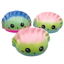 1PCS Kawaii color Dumplings Squeeze Squishy Charms Slow Rising Cartoon Doll Pendant Squishes Cream Scented Toys