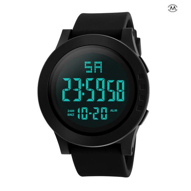 Luxury Sports Watch Men Analog Digital Military Silicone Army Sport LED Waterpro