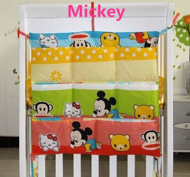 Promotion! Kitty Mickey 62*52cm Diapers organizer baby bed hanging bag portable storage bedding set