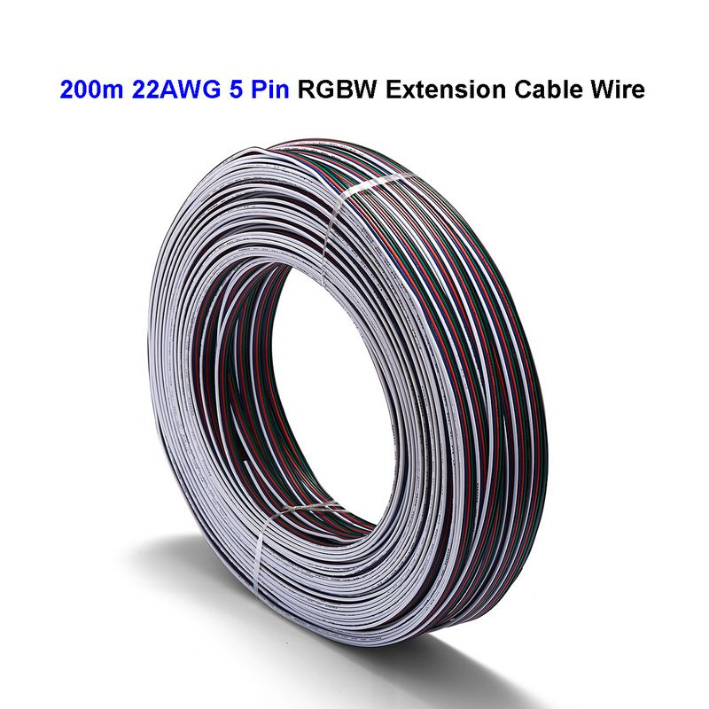 2roll 2 3 4 5 Pin RGB RGBW Power Extension Cable 100m 22AWG 20AWG 18AWG Electrical