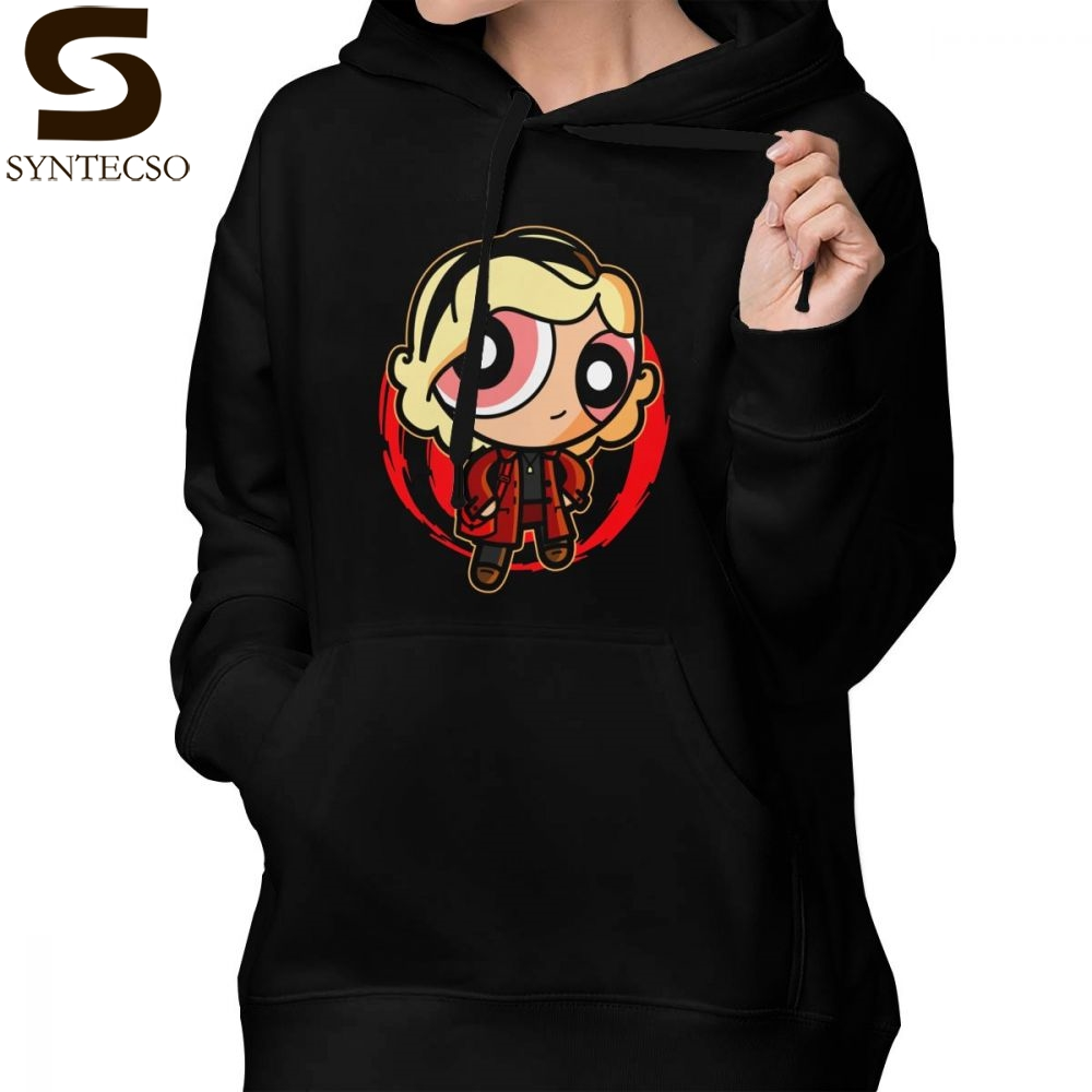 Powerpuff Girls Hoodie Powerpuff Witch Hoodies Graphic Street wear Hoodies Women Long sleeve White Sexy XL Pullover Hoodie