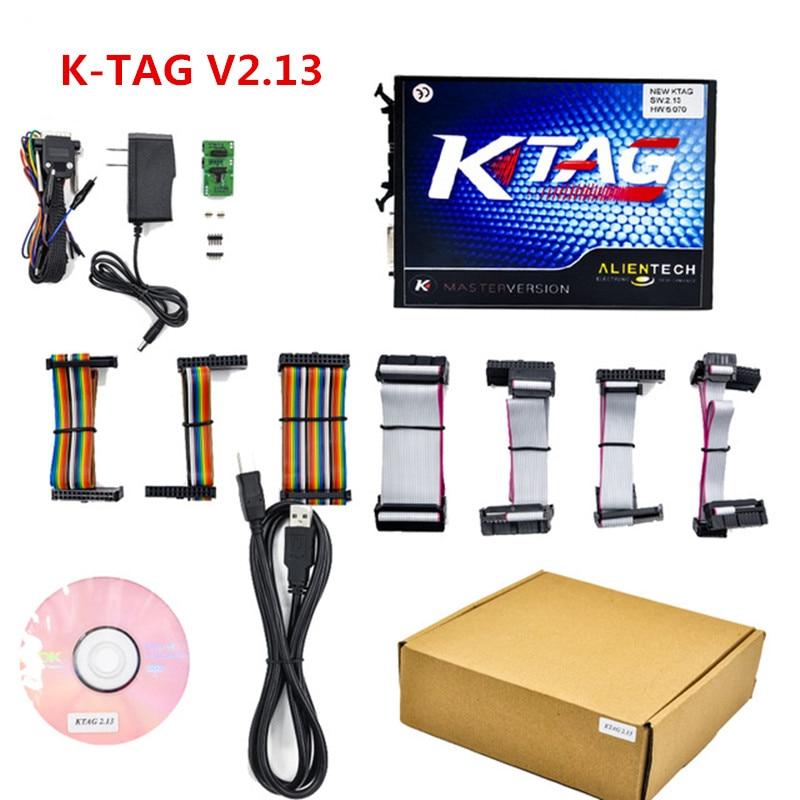Free Shipping NEW KTAG V2.13 Unlimited Version High Quality K TAG Master ECU Programming Tool K-TAG Hardware V6.070