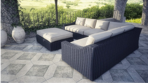 2017 Sigma Newest Wicker Patio Furniture Outdoor Sofas 5 Piece Sectional Set