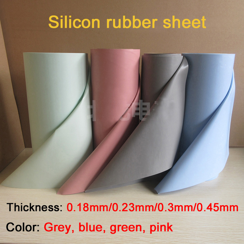 Welding machine used Silicon rubber sheet / Silicone conductive thermal insulation cloth/ 0.23mm, 0.3mm, Grey, pink yamaha silicon cloth m