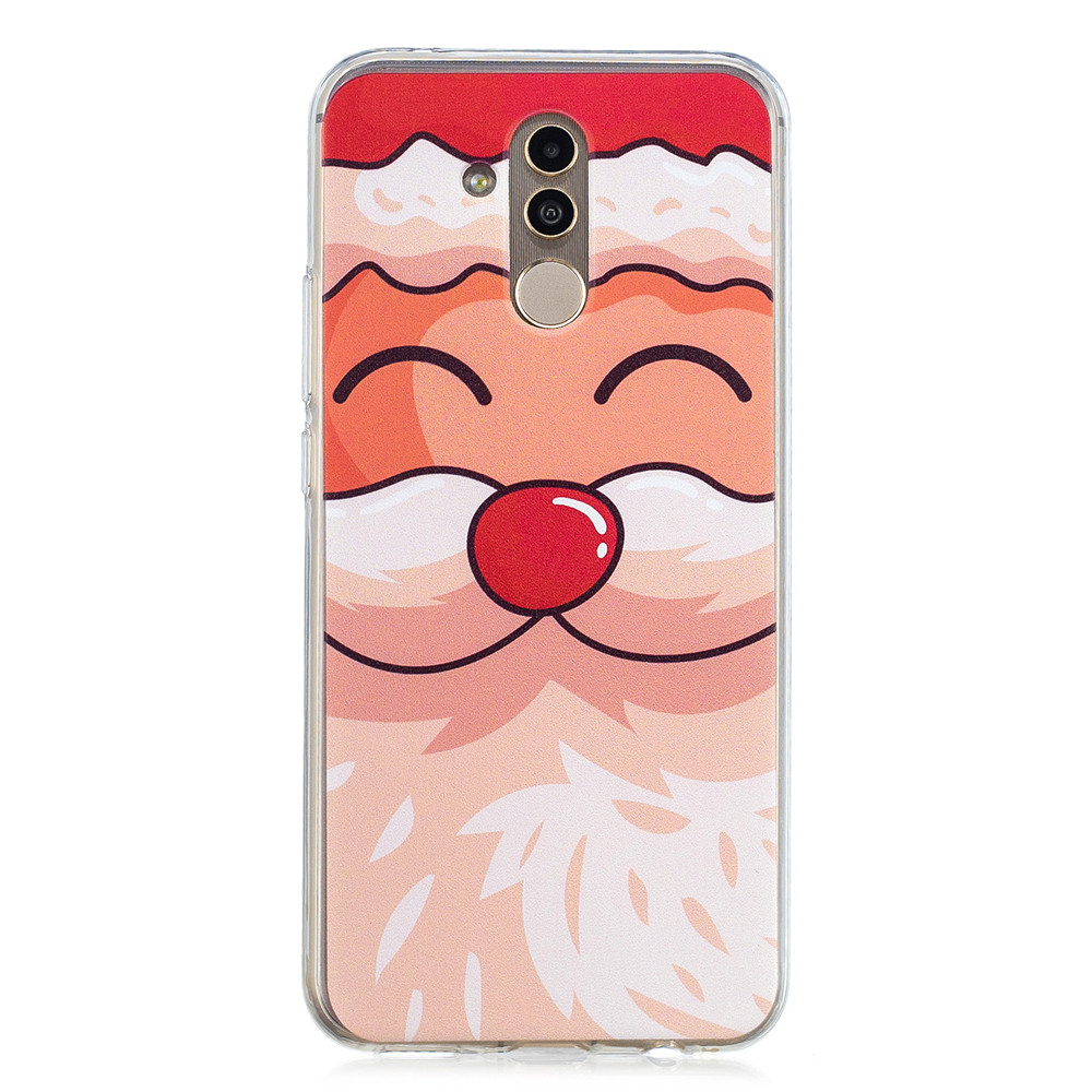 Christmas Santa Claus Elk Case For Huawei Mate 20 Lite Case Soft Silicon TPU Phone Cases For Huawei Mate 20 Lite Coque 6.3 Inch