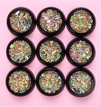 цена на 1 Box Nail Art Glitter 9 Colors Caviar Rhinestones Crystal Gems Accessories 3D Tips DIY Design Acrylic UV Gel Metal Decoration