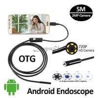 HD720P 2MP 5M USB USB Endoscope Android Camera 8mm Snake USB Inspection IP67 Waterproof Andorid PhoneOTG