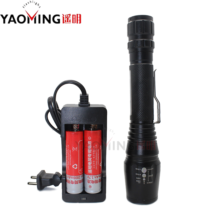 High Power Police Led Flashlight E17 Cree XM-L T6 3800lm Zoomable Linternas Rechargeable Lantern Tactical Lamp Torch Flashlights