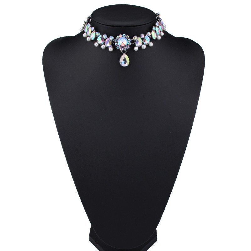 HTB15Yb9OFXXXXb5XVXXq6xXFXXXr Luxurious Pearls And Crystals Statement Choker Collar Necklace With Pendant Charm - 8 Styles