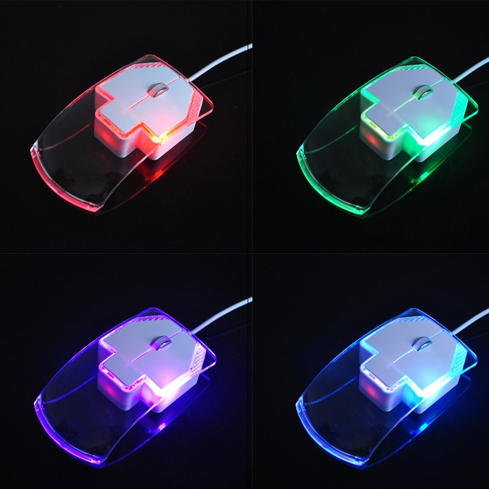 Wired Mouse Colorful Light USB3 Button 1600 DPI Player Wired Computer Mouse Ergonomic Mouse Cable Game Q