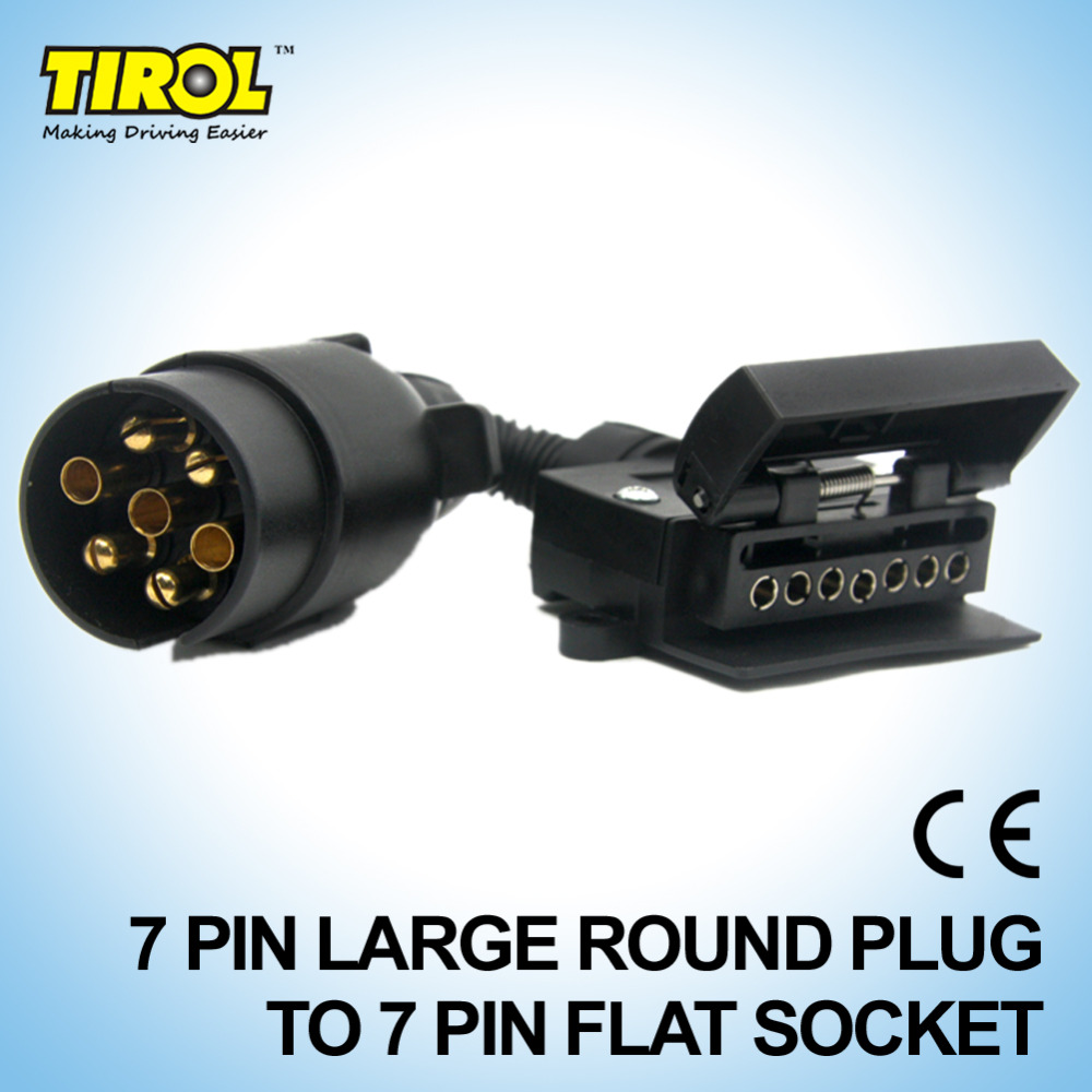 Tirol 7 Way Pin Rv Blade To 6 Round Trailer Wire Adapter Wiring Light Plug