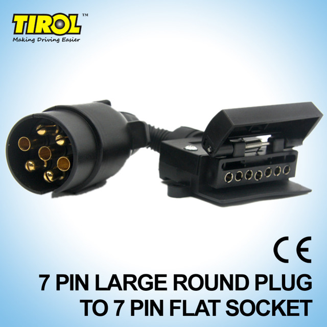 TIROL T21579b 7 Pin Stecker Stecker Trailer Boat Lkw Auto Adapter 7 ...