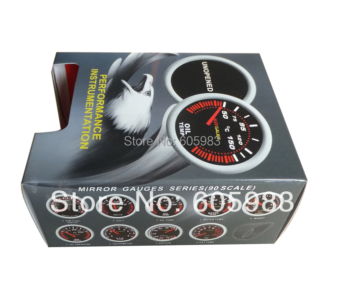 Free shipping 2inch VOLTAGE METER FOR CAR 52mm Digital plasma car meter volts gauge LED9901