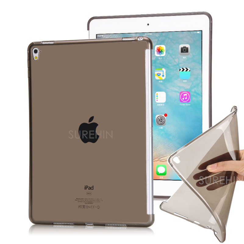 Nice flexible clear soft tpu silicone back cover for apple ipad air 2 case cover slim thin skin smart cover partner