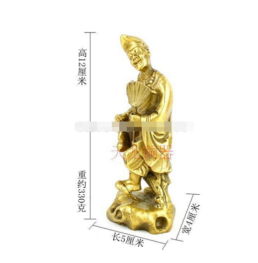 B0601 Feng Shui mascotte cuivre station Moine Bouddha ornements