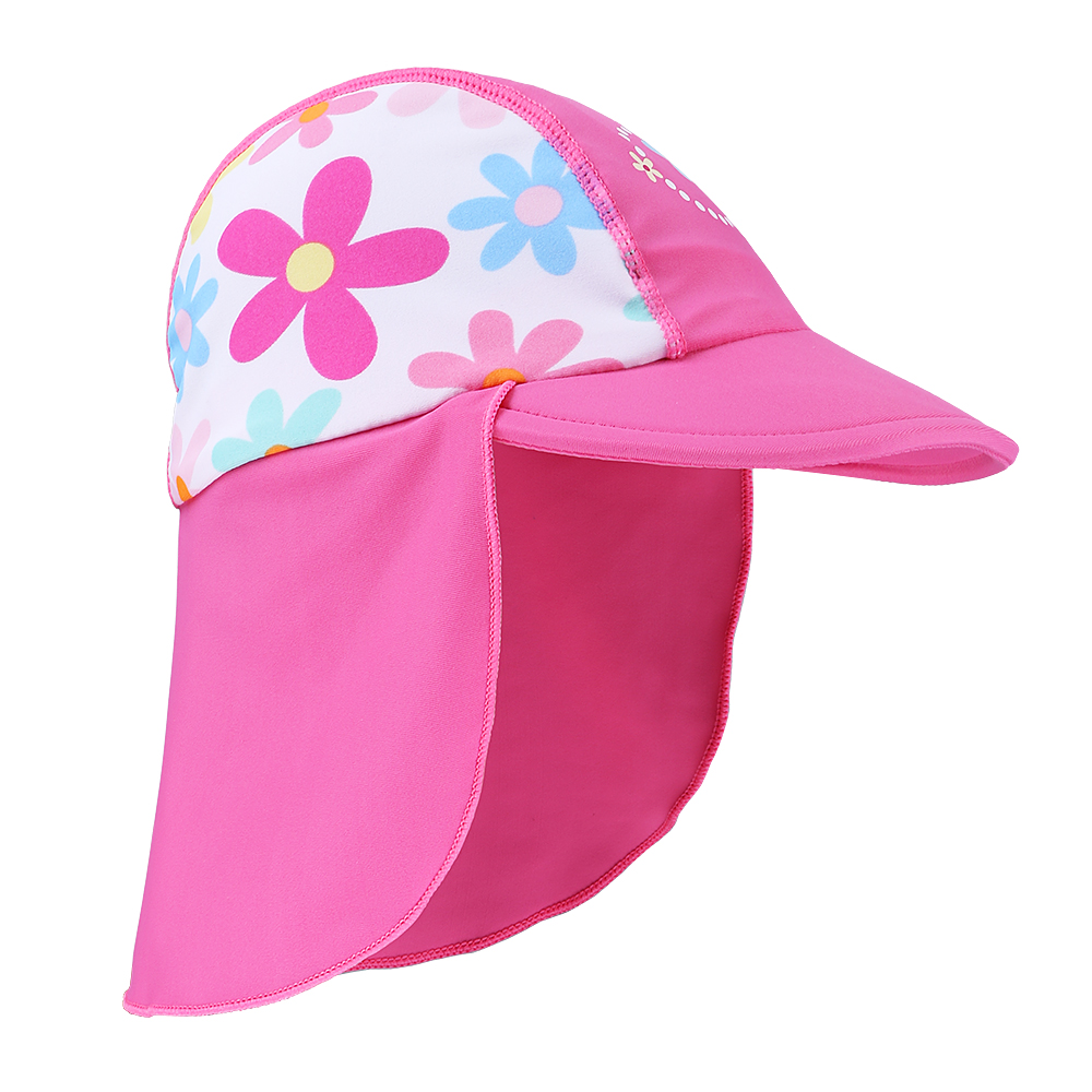 1e273364c BAOHULU Summer Child Swimming Caps Cute Baby Print Swim Sun Protection Hats  Kids Beach Caps Infant