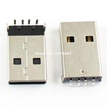100 قطعة لكل مجموعة USB نوع 4 دبوس ذكر الزاوية اليمنى DIP موصل لتقوم بها بنفسك