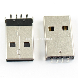 Image 1 - 100 pièces par Lot USB Type A 4 broches mâle Angle droit DIP connecteur bricolage