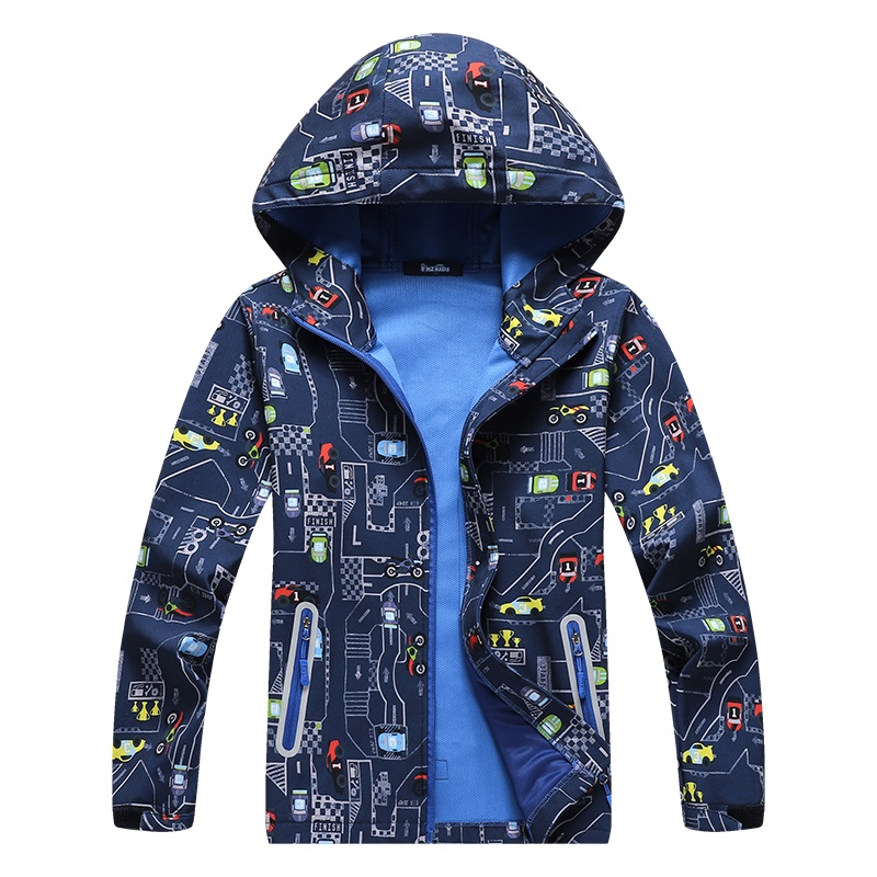 Waterproof Outfit Child Tech coat Warm Baby Boys Girls Soft Shell Jackets Children Outerwear Kids Windbreaker For 5-14 Years Old
