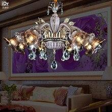 Современная роскошь фиолетовый кристалл гостиная спальня столовая пакет Спальня лампа Зал Люстры Rmy-0213