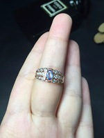 100 Natural Perfect Tanzanite Ring With 925 Sterling Silver Good Fire Surface Size 4 6mm With