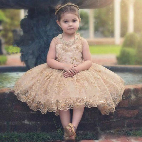 2017 New Flower Girl Princess Dress Kid Party Pageant Lace Bridesmaid Ball Gowns flower girl princess dress 2017 new fashion kid party pageant wedding bridesmaid ball bow white dress 2 4 6 8 years xdd 3271