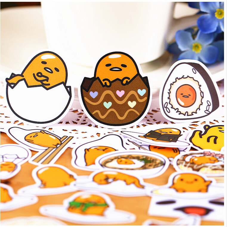 39pcs Creative Cute Self-made Lazy Egg 4 Stickers Scrapbooking Stickers /Decorative Sticker /DIY Craft Photo Albums TZ67
