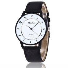 ea84bfa6465 Hot Vendas moda casual white   black leather assista mulheres homens  amantes de quartzo vestido relógio de pulso Relojes Mujer