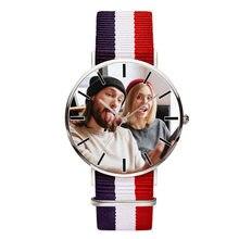 5ac5203b8 A3311 صور مطبوعة DIY ووتش عشاق المألوف تصميم ساعة اليد طباعة مع العميل صور  مخصص الساعات هدية الكريسماس