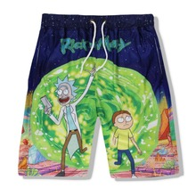 SzBlaZe Brand Casual Unisex Rick and Morty 3D Print Casual Shorts Breathable Sum