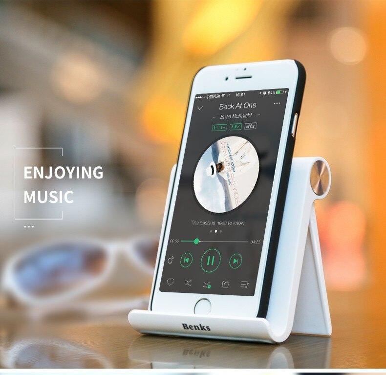 Benks אוניברסלי גמיש טלפון השולחן מחזיק אייפון סמסונג Xiaomi Huawei נייד, טלפון סלולארי וכל מחשב לוח נייד בצורת וי לעמוד