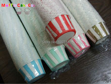 100pcs /lot 45*35mm Polka Dot  muffin cupcake paper cups Cupcake Liners Baking Cups blue pink purple ... include 4 pvc box flat