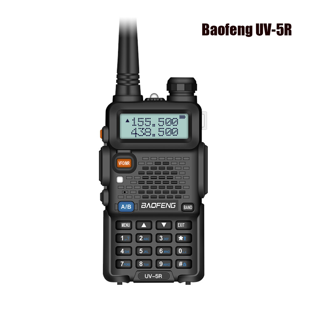 Baofeng UV 5R Two Way Radio Mini Portable 5W Dual Band VHF UHF Walkie Talkie UV5R 128CH FM Transceiver Hunting Ham Radio Scanner