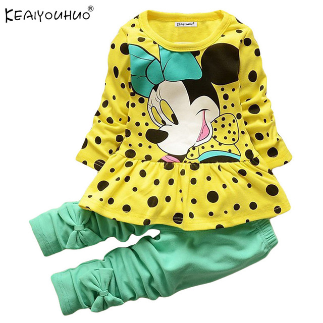 Baby Girl Clothes Spring Children Clothing Girls Sets Minnie Mouse Kids Clothes Tracksuit For Girls Sport Suit Long Sleeve+Pants 2017 spring baby girls clothes jacket floral kids hoodies pants kids tracksuit for girls clothing sets girls sport suit for 12y
