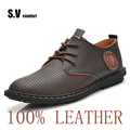 Men Shoes Schoenen Leather Men Shoes High Quality Sapatos Business Shoe Lace Up Oxford Breathable SV Comfort
