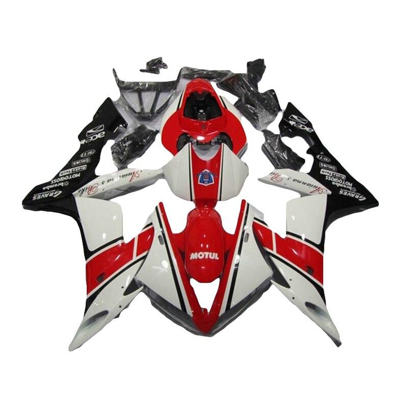белый красный обтекатель комплект для YAMAHA YZF Р1 YZF1000 04 05 06 2004 2005 2006 обтекатели 7 подарки xl69