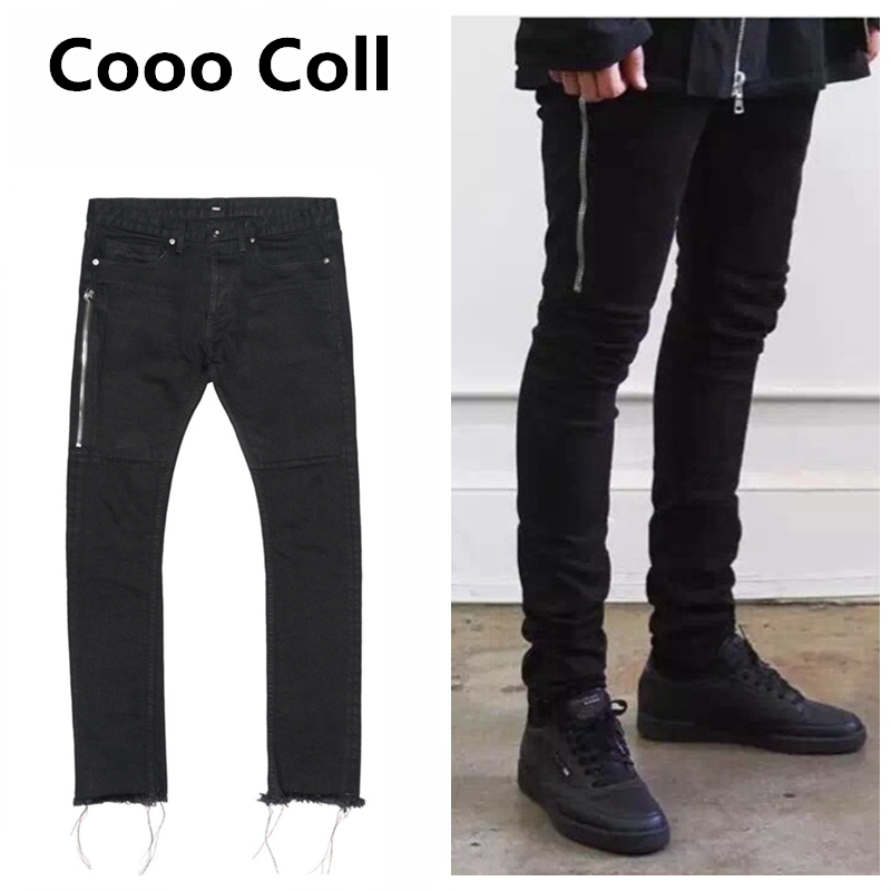 ФОТО 424 FOG jeans Slim Long Fear of god Beckham Chris jean Destroyed Denim Biker Justin Bieber men pants Biker Kanye West Cooo Coll
