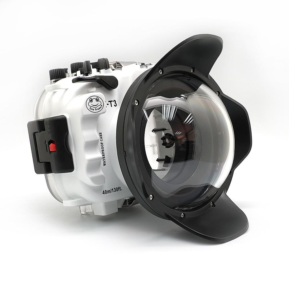 Seafrogs 40M/130FT Underwater camera housing <font><b>case</b></font> for <font><b>Fujifilm</b></font> <font><b>X</b></font>-<font><b>T3</b></font> Fuji XT3 FP.1 (White) image