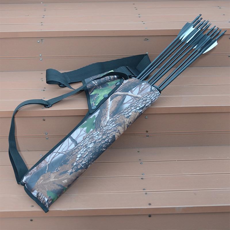 Three Tube Arrow Pot Quiver Double Strap Can Be Shoulder Back Waist Archery Arrow Archery Archery Accessories Bow And Arrow Bag