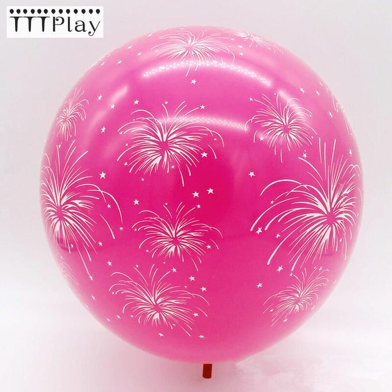 10 sztuk 12 cal romantyczny fajerwerki drukowane balony lateksowe dekoracja na przyjęcie z okazji urodzin nadmuchiwany ślub powietrza balony prezenty dla dzieci