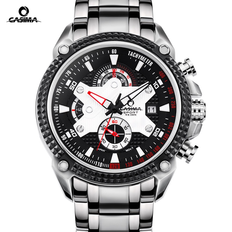 CASIMA Luxury Brand watches men Sport Fashion Elegent table mens quartz watch silicone strap luminous waterproof 100m casima luxury brand sport quartz watches men reloj hombre fashion silicone band100m waterproof men watch montre homme clock