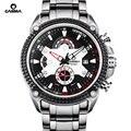 Casima marca de luxo relógios homens do esporte da forma elegent mens mesa relógio de quartzo pulseira de silicone luminosa à prova d' água 100 m