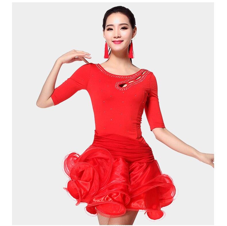 New Adult/Child Latin Dance Dress  For Ballroom Dancing Lady Cha Cha/Rumba/Samba/Tango/Ballroom Dance Skirt Child Dance Wear