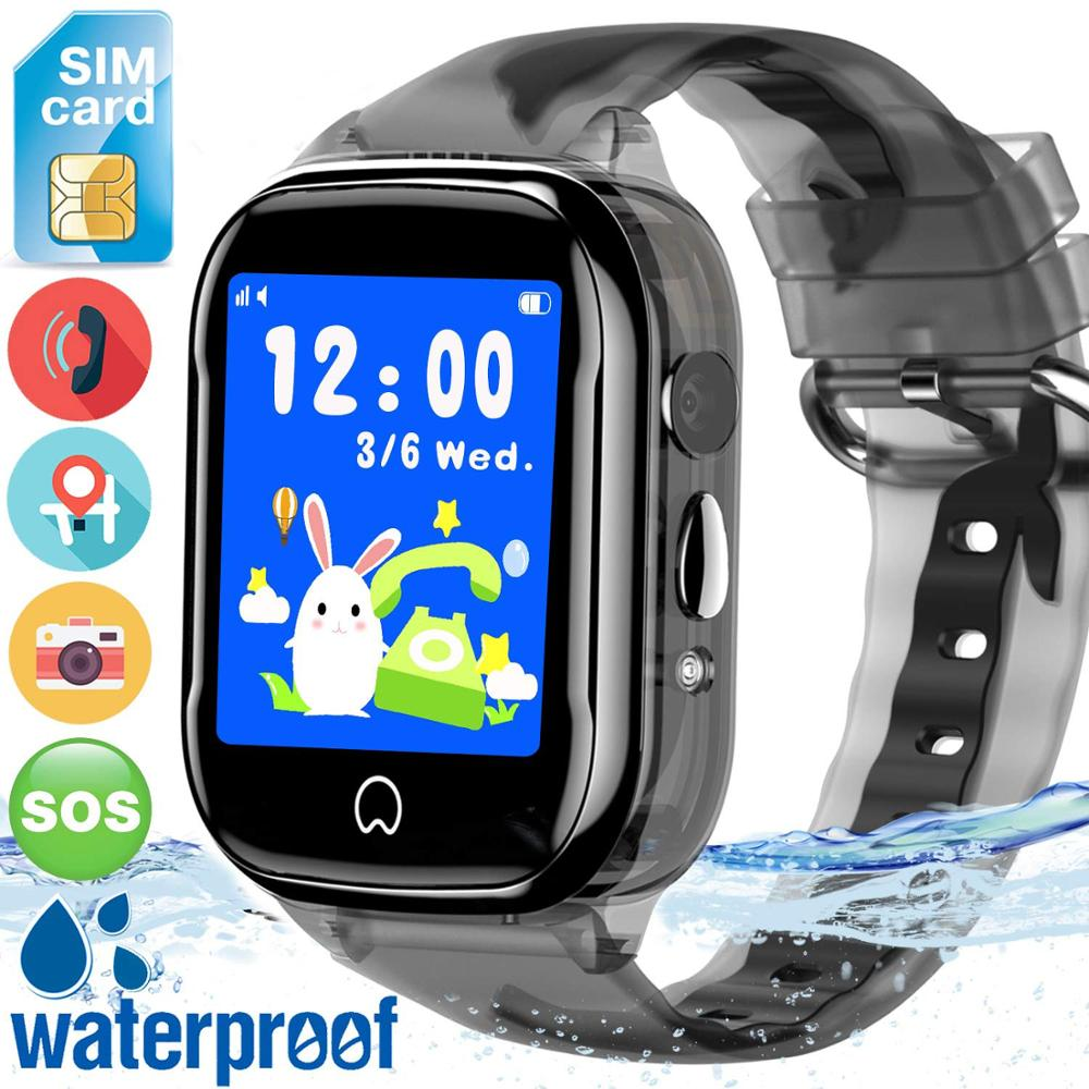 2019 Smart Kids Watch K21 Waterproof LBS Locating Voice Chat with Camera for Child Baby Students Sports Smart Watch PK DF31G