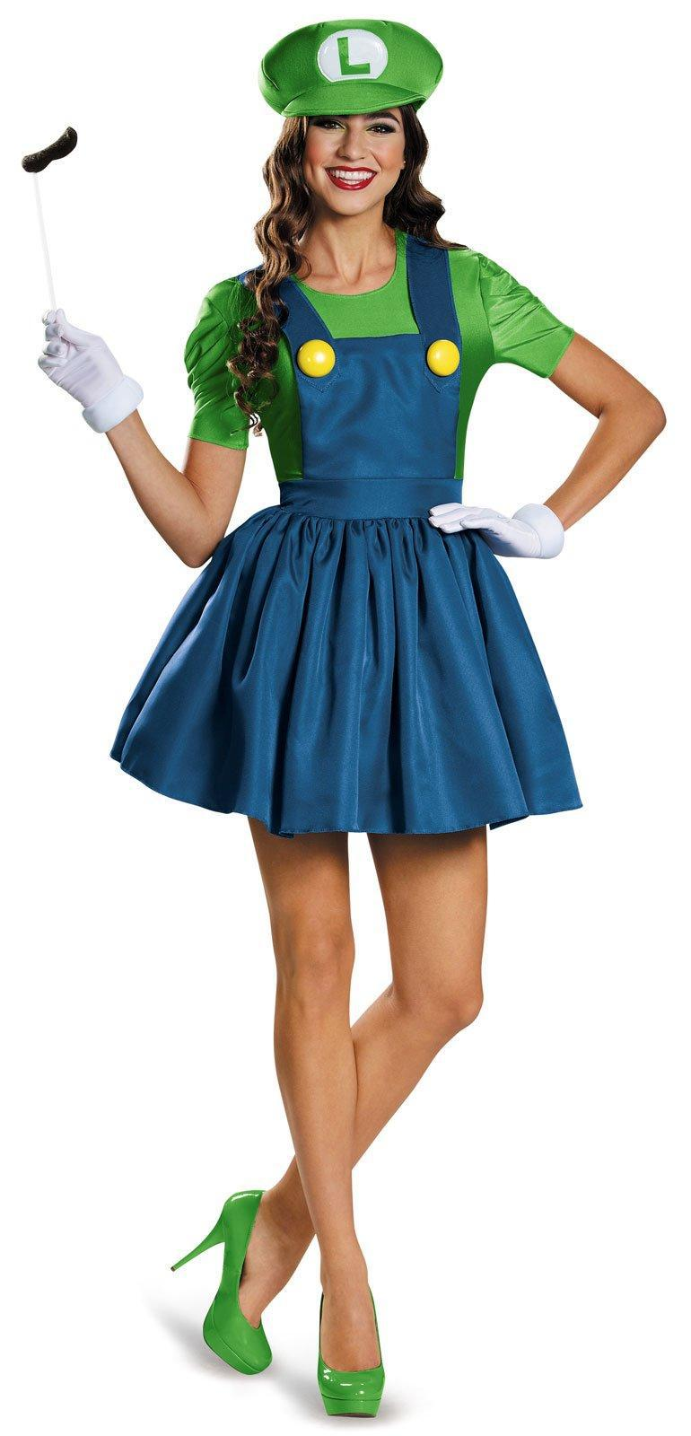 New Adult Womens Sexy Halloween Party Super Mario Costumes Outfit ...