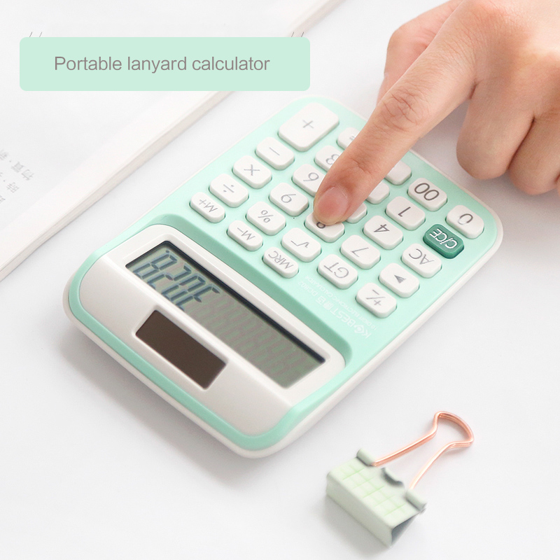 Cute carry lanyard calculator Small fresh mini student office battery solar dual-use calculator School office supplies KawaiiCute carry lanyard calculator Small fresh mini student office battery solar dual-use calculator School office supplies Kawaii