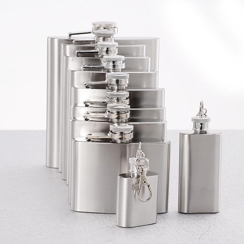 Hot Sale Flask Trustworthy 1pc 10 8 6 4 2 1 oz Stainless Steel Hip Flask Liquor Whisky Alcohol Cap Funnel Drinkware Bottle