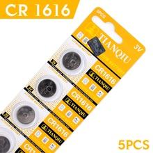 Novo para o para o Relógio de 5 Fábrica Barato 2-day-promotion2017 Relógio de 5 PCS 3 V Células Lítio Coin Botão Bateria Cr1616 Dl1616 Ecr1616 Br1616 5021lc