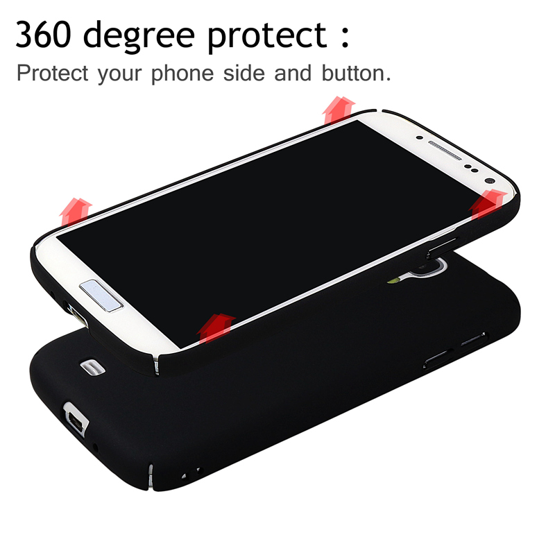 Full Protective Case For Samsung Galaxy S4 I9500 I 9500 Cover Hard Plastic PC Ultra Thin 360 Degree Protection Back Cover